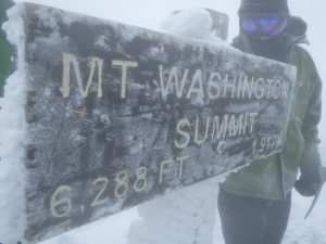 Mt Washington summit sign