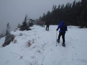 Snowshoeing on the edge