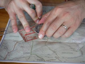 Plotting a course on a map